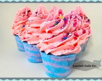 Cupcake Bath Bomb, 3, Berry Blast Bath Bomb, Cupcake Bath Bomb, bath bomb, soap, sugar scrub, Bath and Beauty, Bath