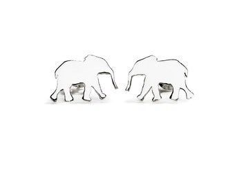 Handmade Elephant Stud Earrings