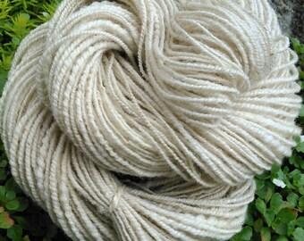 Handspun yarn natural undyed wool