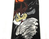 Vintage Space Jam TAZ Tie / Novelty Tie /  Looney Tunes Basketball / Vintage Warner Brothers Tie / Father's Day Gift