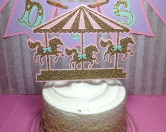 Carousel Cake Topper (Carousel Party, Carousel Birthday, Carousel Decorations)