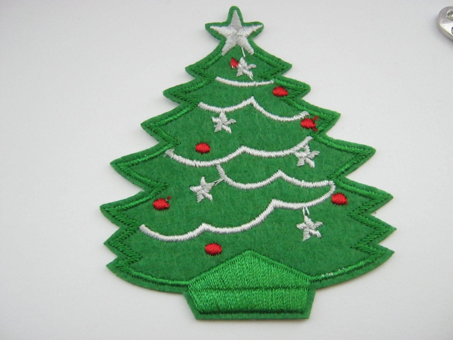 Christmas Tree Patch Iron On Appliques 8cm 3 Inches