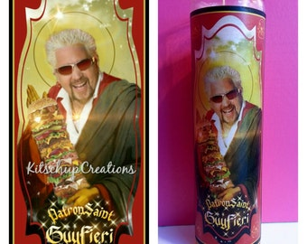 Guy Fieri prayer candle