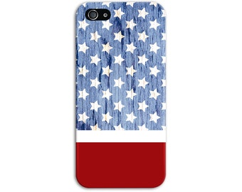 4th July American Flag Wood Phone Case, iPhone 7, iPhone 7 Plus, Tough iPhone Case, Galaxy s8, Samsung Galaxy Case, Note 5, CASE ESCAPE