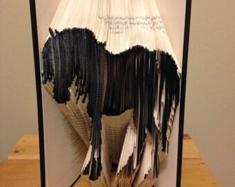 Hand folded horse book