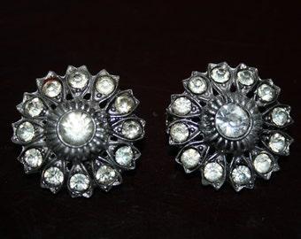 Matching Vintage Rhinestone Brooches
