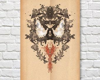 """Venom Rorschach Poster (Marvel) - 11"""" x 17"""""""