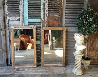 Pair of vintage French gilt alcove mirrors
