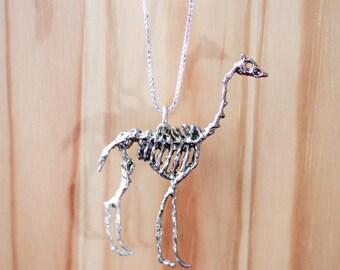 Giraffe skeleton pendant