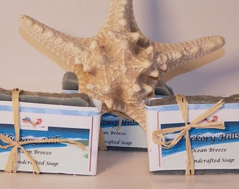 Ocean Breeze Cold-pressed Soap, handcrafted