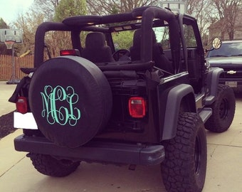 Monogrammed Tire Cover - READ DESCRIPTION!!!!!!