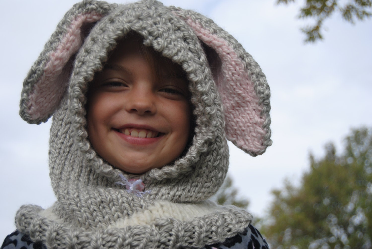 Knitting pattern for Flopsy bunny hood/ Cowl/ PDF download ...