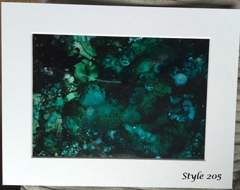 """Multi-coloured Abstract Ink Artwork - Ready to hang in 10"""" x 8"""" Frame"""
