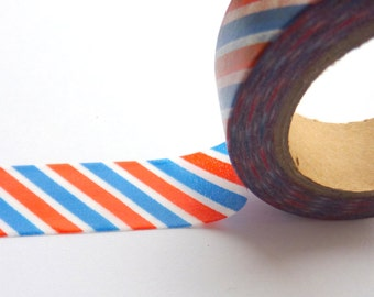 Blue and Red Stripes Air Mail Washi Tape 15 x 10m