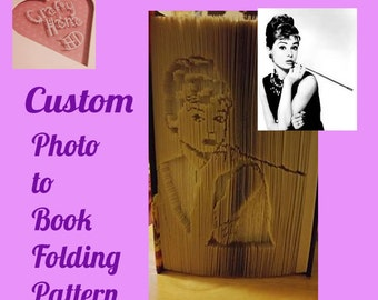 Book Folding Pattern - Custom made Pattern - Have your photo converted to a Bookfolding Pattern - PDF