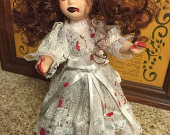 Susie The Zombie Doll, Creepy Doll, Scary Doll, Haunted Doll, Halloween Doll