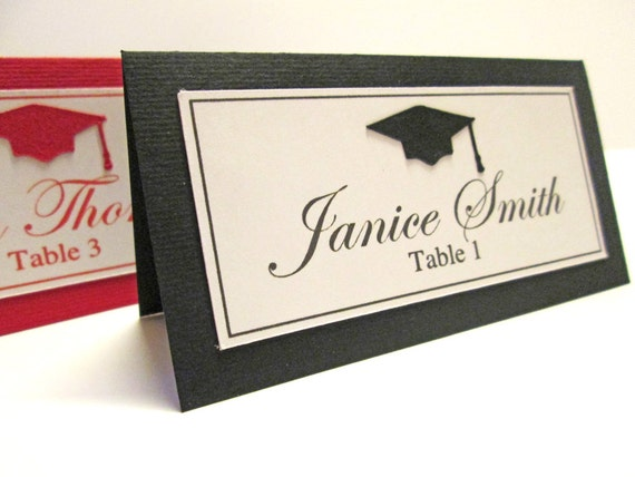 Graduation Place Cards Graduation Party Decorations High
