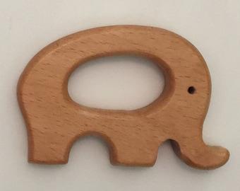 Wood Elephant Teether
