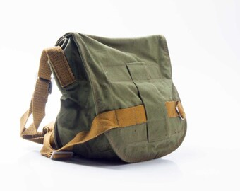 Soviet. RARE. Soviet army bag. Gas mask bag.