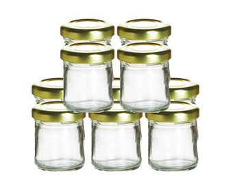 mini glass jars with lids 10 piece set of small clear glass jars for wedding - Glass Containers With Lids