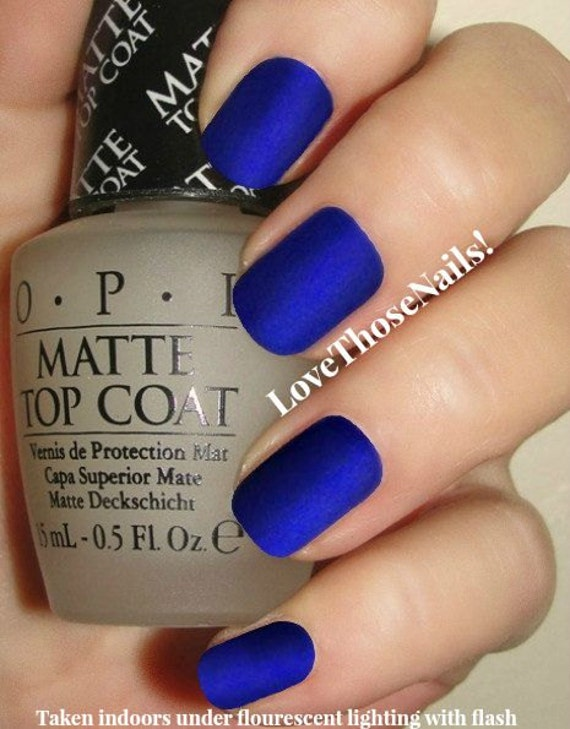 Opi Royal Blue Matte Manicure Opi St Marks The Spot