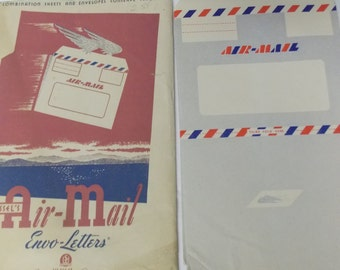 Wessel's Air Mail Envo Letters Set of 12 New/ Old Stock