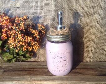 Lavender Mason Jar Soap Dispenser