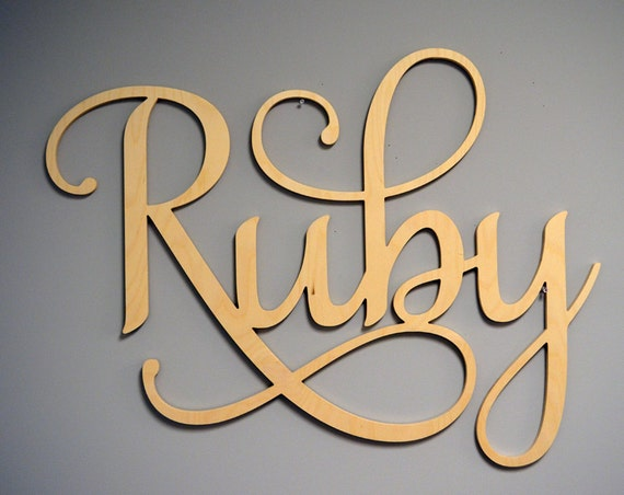 Decorative wall letters nursery decor large wooden letters - Decorative wooden letters for walls ...