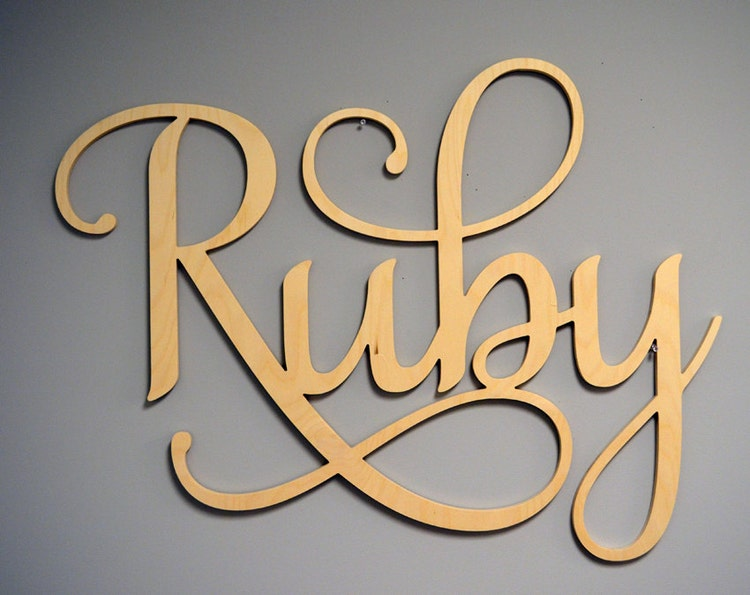 Decorative Wooden Letters Nursery Decor Large By