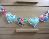 Heart Bunting Garland Handmade & Unique Dots and Floral