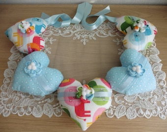 Heart Bunting Garland Gorgeously Soft and Padded Handmade & Unique