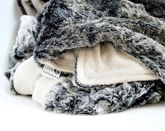 LUXE Collection- The Wolf Luxe Combination of Specialty Faux Furs and Smooth Minky