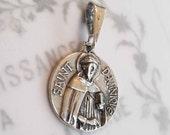 Medal - St Dominic de Guzmán - Sterling Silver - 18mm