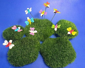 Miniature Dollhouse FAIRY GARDEN Accessories 10 Tiny Multi-colors butterfly