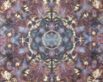 Snow dyed fabric mandala - 100% cotton dyed with MX Procion dyes