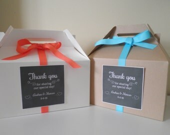 Design Your Own Wedding Gift Tags : Create Your Own Label Message! Set Of 8 Lg Gable Box Sets With Labels ...
