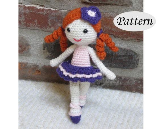 Crochet Ballerina Bear Free Pattern : PATTERN Little Ballerina Amigurumi Crochet Ballet