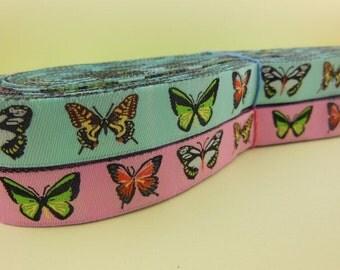 Butterfly Woven Ribbon 5/8''
