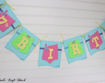 Pool Party Birthday Banner