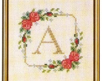 CS 702 Initial Alphabet cross stitch kit