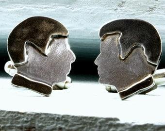 Sci Fi: illogical Jim Cufflinks. Sci-Fi Cufflinks, Sterling silver cufflinks. Handmade in the UK