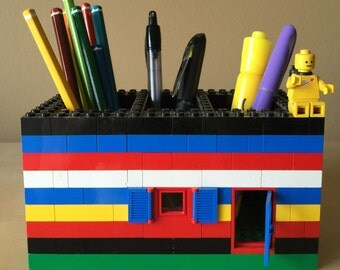 Vintage Lego Pen / Pencil Holder for Desk at the Home or Office!