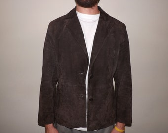 Vintage Genuine Suede Leather Coat-Siena-80's