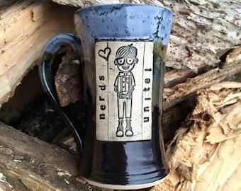 Nerd Mug - Wheelthrown Mug - Black