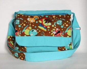 Children's messenger bag Shoulder bag for boy Monsters Bag