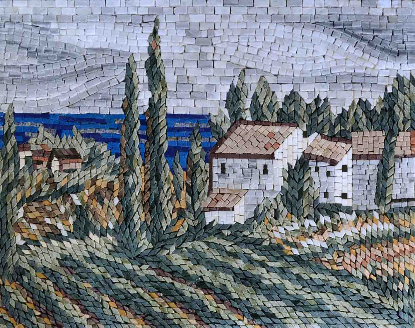 mosaic kitchen backsplash ancient tuscan zoom