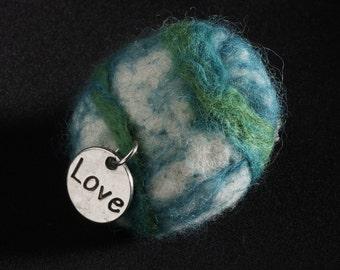 Peace Pebble - Heart Strings (planet Earth)