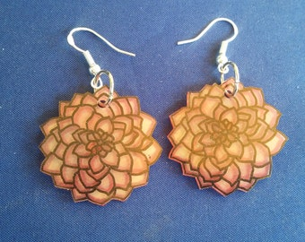Flower burst earrings