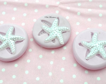 Flexible silicone mold-mold starfish-polymer clay jewelry polymer clay jewelry -18mm kawaii ST154