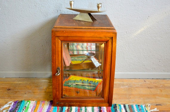 vitrine petit meuble vitr miroir et bois art d co ann es 30